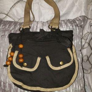 Black And Tan Pant Style Pocket Snap Purse